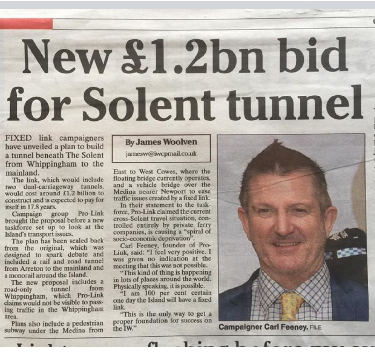 Carl Feeney / Solent Freedom Tunnel