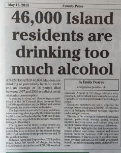 """15,000 binge drinkers and 700 crack cocaine users on the island..."""