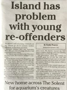 """Almost half of young criminals on the island go on to commit further offences"""