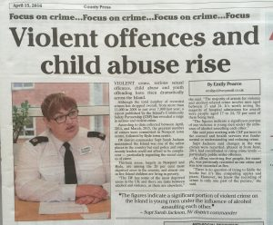 Violent offences and child abuse rise