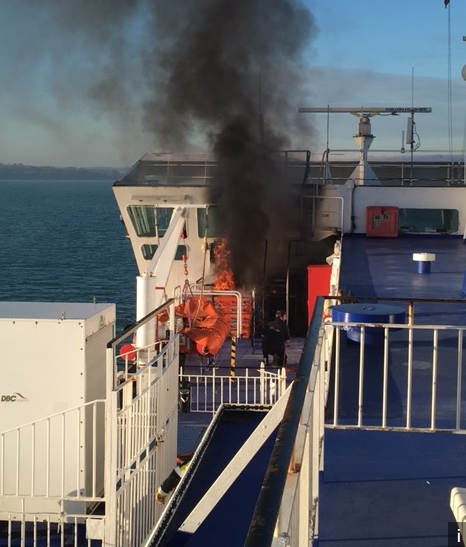 Lack of maintenance causes air condition fire on Wightlink.