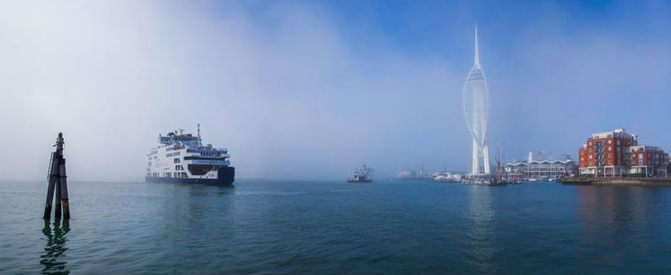 Fog can cause a virtual stand-still for hours for all existing cross-Solent transport.