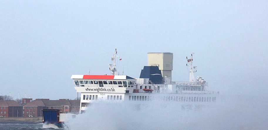 Rough weather can cause serious problems for the ferries.