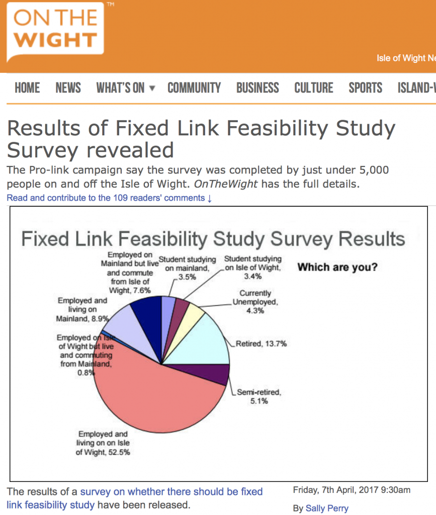 onthewight / fixed link feasibility study survey revealed / Solent Freedom Tunnel